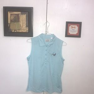 EP Pro Women's Golf Shirt Medium Blue Polyester